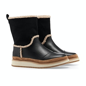 Toms Makenna Women's Boots - Black Leather Suede