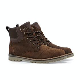 Toms Ashland Waterproof Rugged Canvas Men's Boots - Brown Waxy Suede