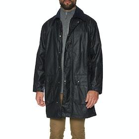 Barbour Border Mens Wax Jacket - Navy