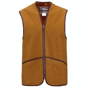 Barbour Warm Pile Waistcoat Zip in Liner Men's Gilet - In Liner Brown