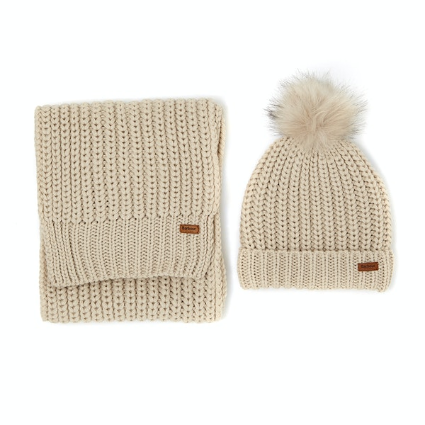 Barbour Saltburn Scarf And Women's Beanie
