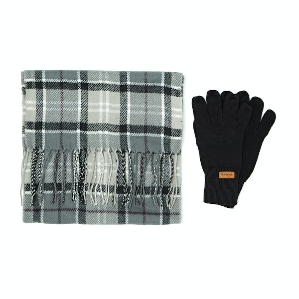 Barbour Scarf And Knitted Gloves Women's Gift Set