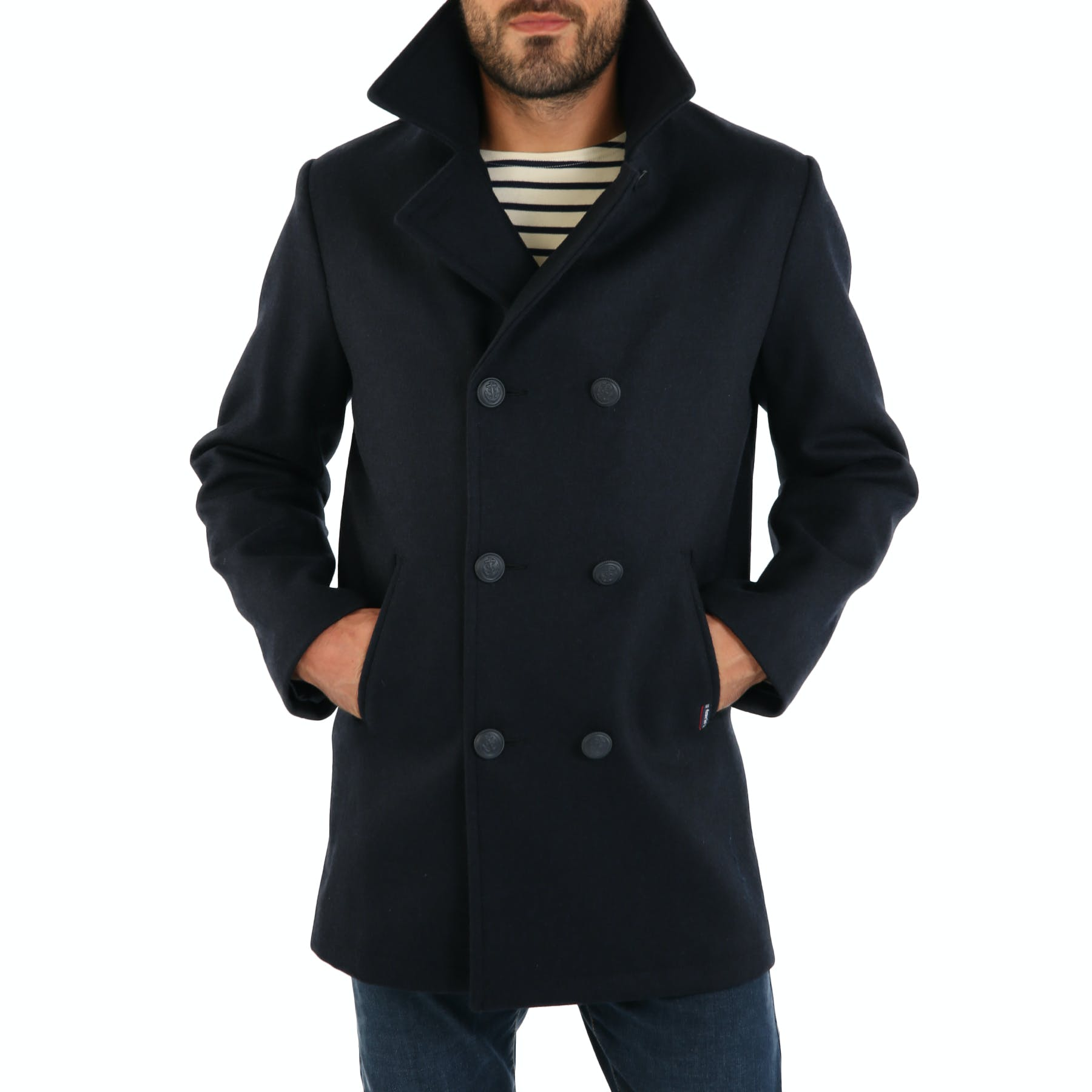 factory outlets high quality aliexpress Armor Lux Caban Homme Kermor Jacket - Navire | Country Attire US