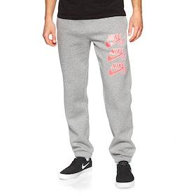 Pantalons de Jogging Nike SB Triple Stack Fleece - Dk Grey Heather Bright Crimson