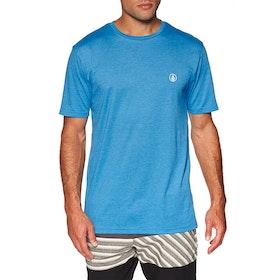 Volcom Circle Blanks Heather Short Sleeve T-Shirt - True Blue
