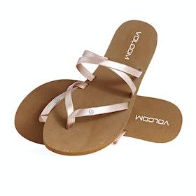 Volcom Easy Breezy Womens Sandals - Rose Gold