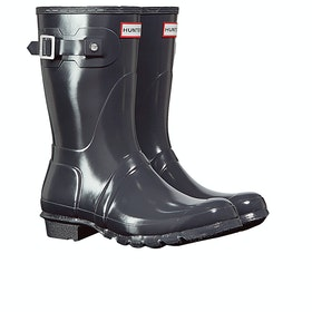 Hunter Original Short Gloss Womens Wellies - Dark Slate
