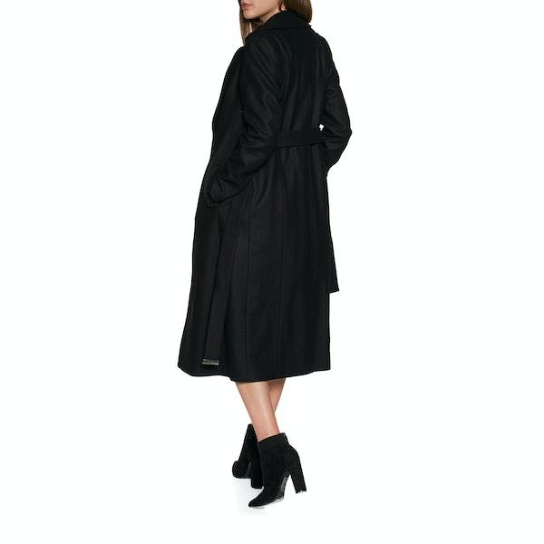 Ted Baker Wide Collar Long Wool Damen Jacke