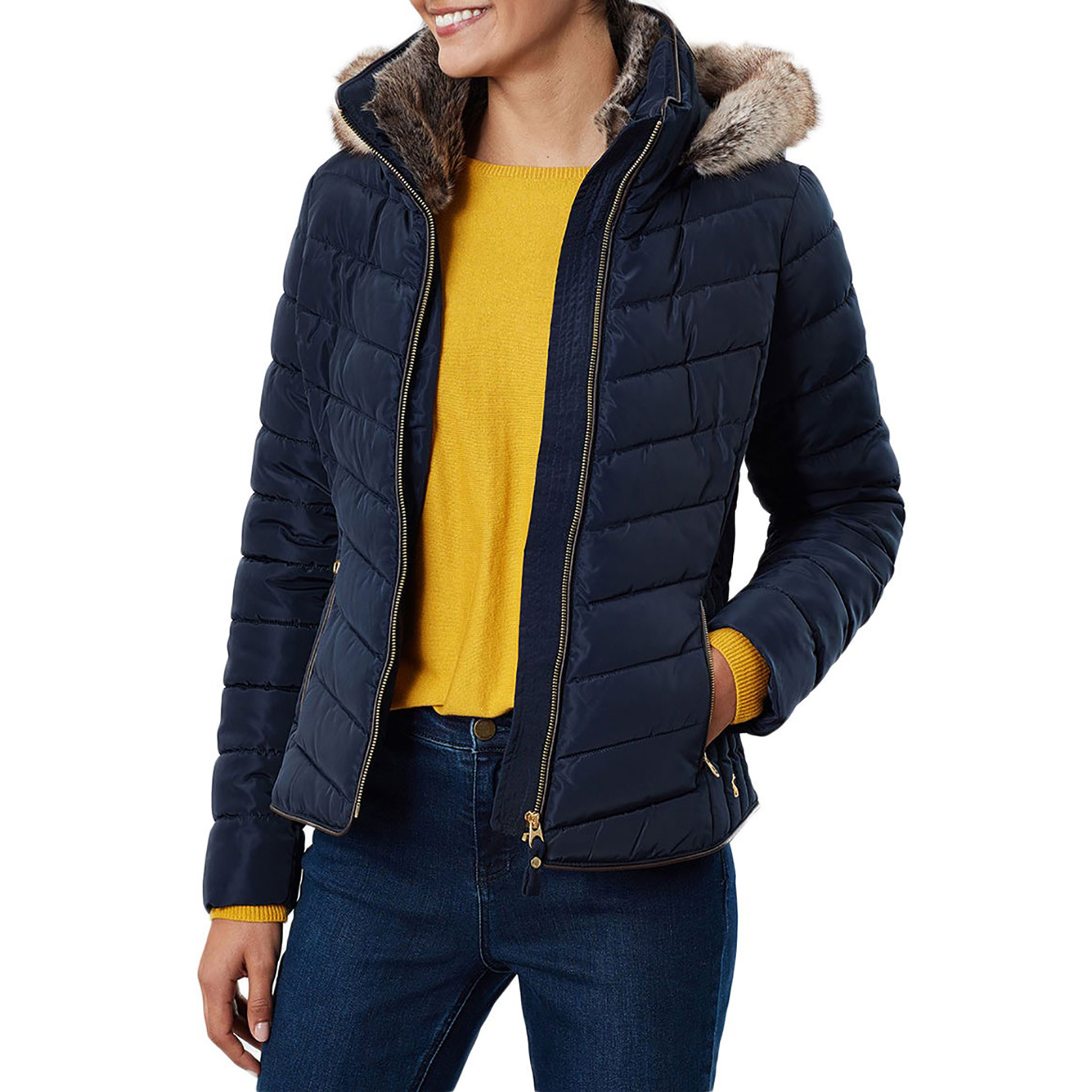 LACOSTE Women/'s Marine Blue Padded Jacket RRP £180 FR 40 size UK 12