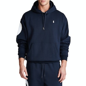 Bluza z kapturem Polo Ralph Lauren Double Knit Tech - Navy Mu