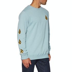 Sweat Volcom Deadly Stones Crew - Cool Blue