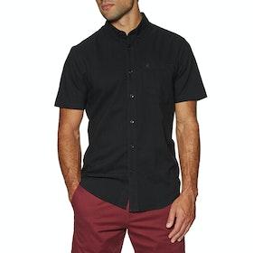 Volcom Everett Oxford , Kortermet skjorte - New Black