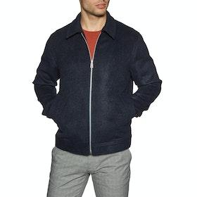 Paul Smith Wool and Alpaca Blend Zip Men's Jacket - Inky