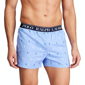 Boxer Polo Ralph Lauren Cotton Elastane - Cabana Blue Aopp