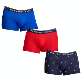 Bokserki Polo Ralph Lauren 3 Pack Trunk - Sapp Star/rl Red/navy Aopp