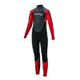 O'Neill Epic 5/4mm Back Zip Kids Wetsuit - Black Red Graph