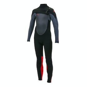 O'Neill Epic 5/4mm Chest Zip Full Boys Wetsuit - Black Graph Red
