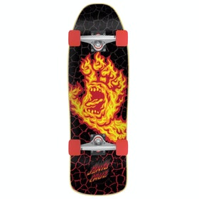 Santa Cruz Flame Hand Mini Comp Cruiser Cruiser - Black/orange