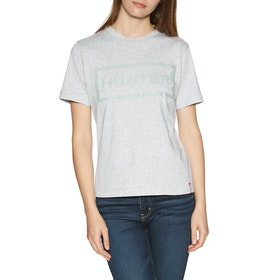 Hunter Original Dames T-Shirt Korte Mouwen - Grey Marl
