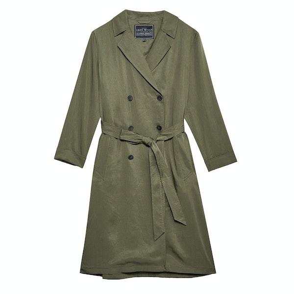 Jack Wills Malmsbury Fluid Belted Trench Women's Jacket