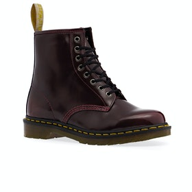 Dr Martens Vegan 1460 Cambridge Brush 8 Eye Boots - Cherry Red