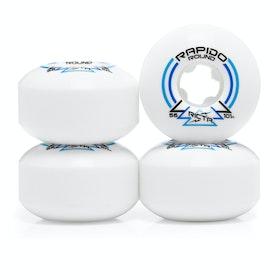 Ricta Rapido Round 101a Skateboard Wheel - White