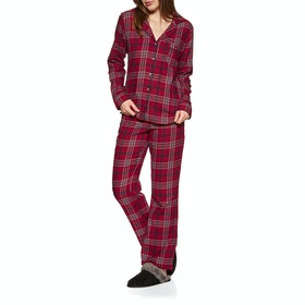 Pyjamas Femme UGG Raven Set Flannel Gift - Chili Pepper Plaid