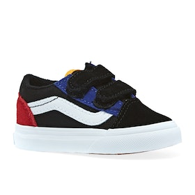 Vans Old Skool V Colorblock Kids Toddler Shoes - Black True White