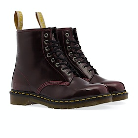 Dr Martens Vegan 1460 Cambridge Brush 8 Eye Stiefel - Cherry Red