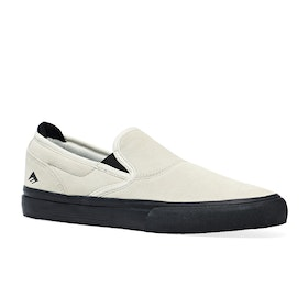 Chaussures Emerica Wino G6 Slip On - White/black