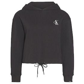 Calvin Klein Long Sleeved Damen Kapuzenpullover - Black