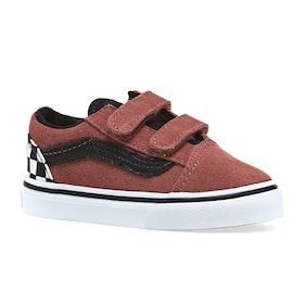Vans Old Skool V Suede Kids Toddler Shoes - Redwood Black
