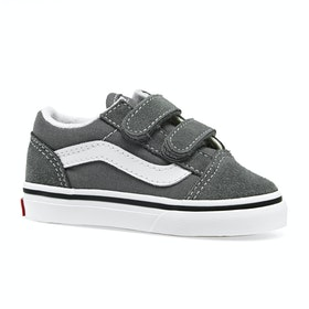 Vans Old Skool V Kids Toddler Shoes - Pewter True White