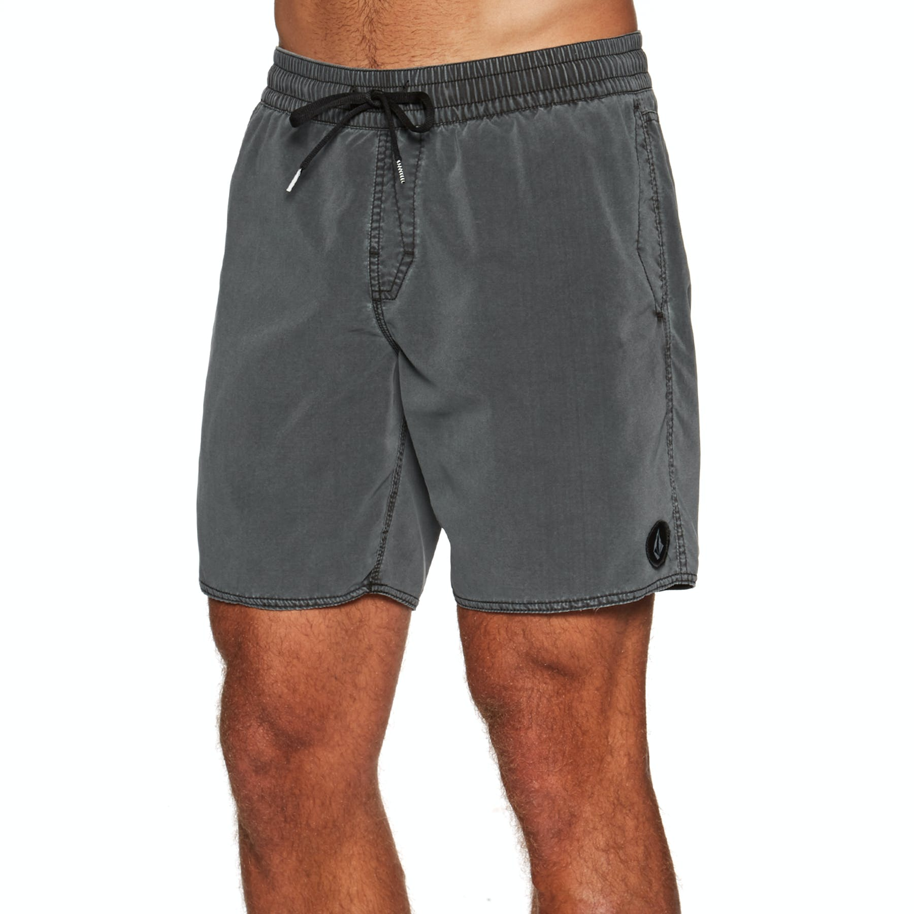 Volcom Center Trunk 17 Elasticated Boardshorts in Black