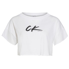 Calvin Klein Cropped Top - Pvh Classic White