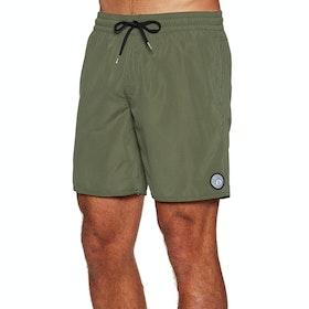 Volcom Lido Solid 16 Swim Shorts - Military