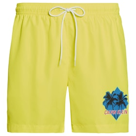 Calvin Klein Medium Drawstring Swim Shorts - Safety Yellow