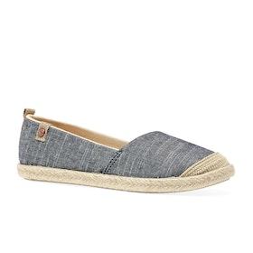 Roxy Flora Girls Slip On Shoes - Blue Indigo