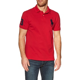 Polo Ralph Lauren Basic Mesh Large Logo Polo Shirt - Red