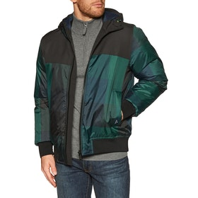 Paul Smith Hooded Down Mens ジャケット - Navy Green