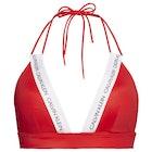 Calvin Klein Logo Strap Fixed Triangle Damen Bikinioberteil