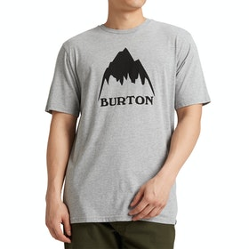 T-Shirt de Manga Curta Burton Classic Mountain High - Gray Heather