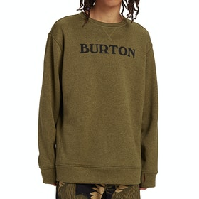 Burton Oak Crew Sweater - Martini Olive Heather