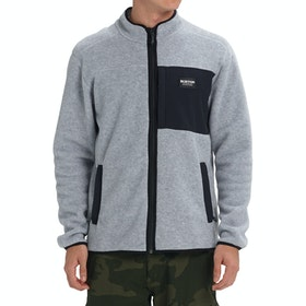 Polaire Burton Hearth Full Zip - Gray Heather Black