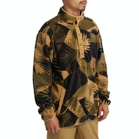 Burton Hearth Fleece - Martini Olive Woodcut Palm