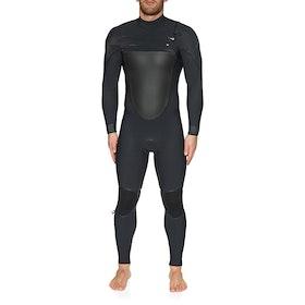 O'Neill Psycho Tech 5/4+ Chest Zip Full Wetsuit - Black Black