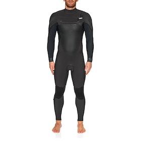 O'Neill Psycho Tech 5/4+ Chest Zip Full Wetsuit - Raven Black