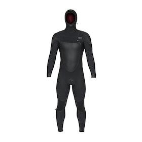 Combinaison de Surf O'Neill Psycho Tech 6/4mm Chest Zip Hooded - Black Black