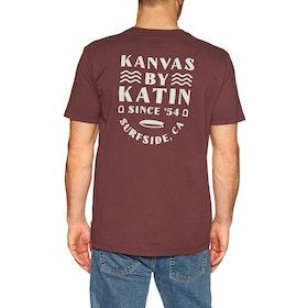 Katin Deco Short Sleeve T-Shirt - Dark Red