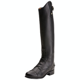 Ariat Heritage Contour Field Zip Childrens Long Riding Boots - Black